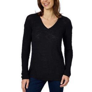 Calvin Klein Black Textured Cotton Sweater M